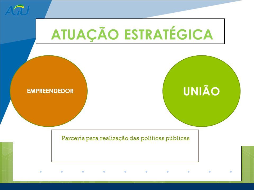 ATUAÇÃO ESTRATÉGICA Parceria para realização das Parceria para realização das políticas públicas Parceria para realização das políticas públicas cas P