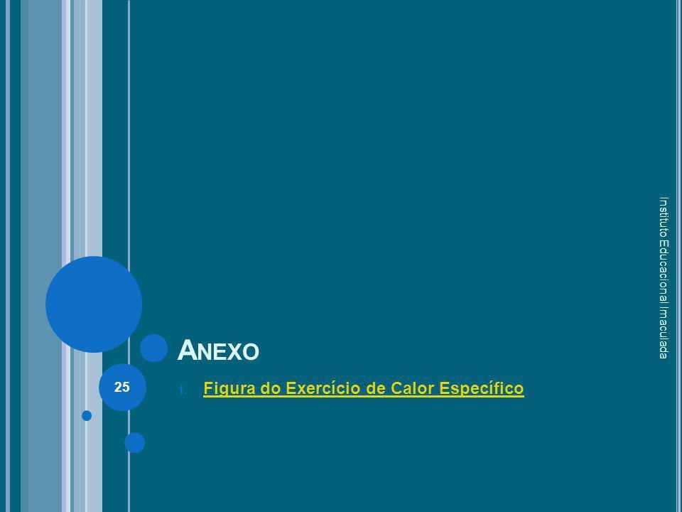 A NEXO 1. Figura do Exercício de Calor Específico Figura do Exercício de Calor Específico Instituto Educacional Imaculada 25