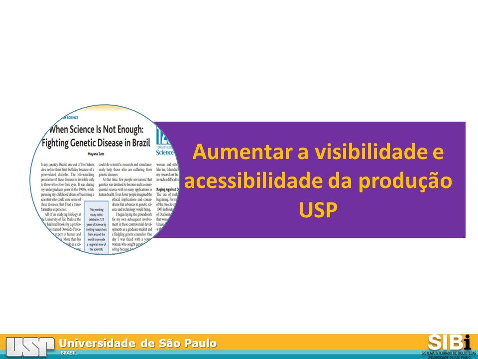 Universidade de São Paulo BRASIL Aumentar a visibilidade e acessibilidade da produção USP
