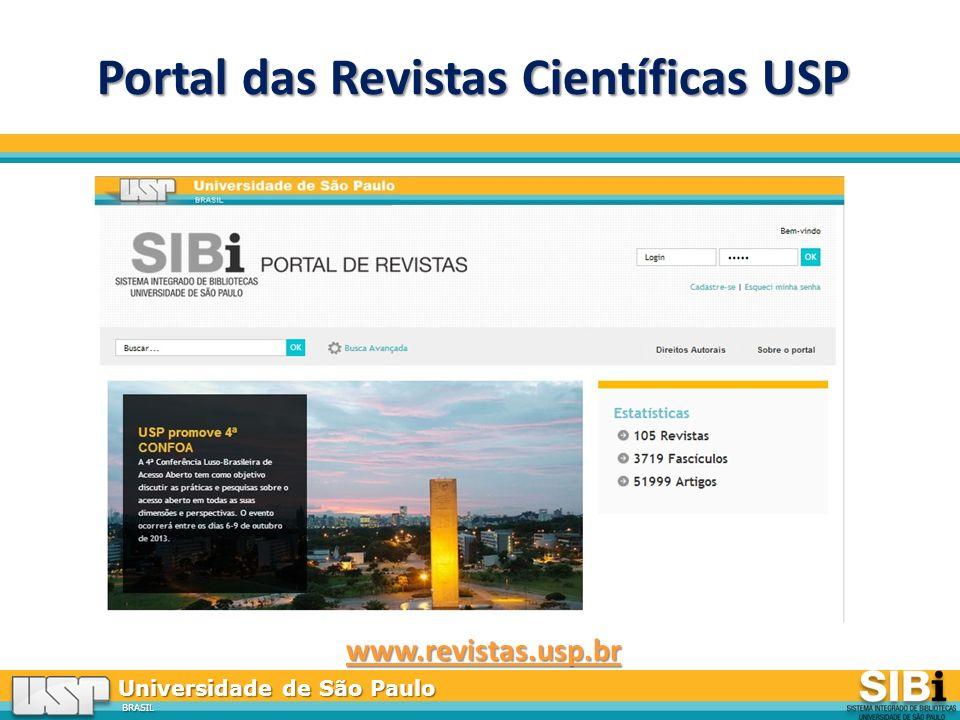 Universidade de São Paulo BRASIL Portal das Revistas Científicas USP www.revistas.usp.br