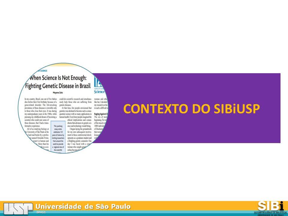 Universidade de São Paulo BRASIL CONTEXTO DO SIBiUSP