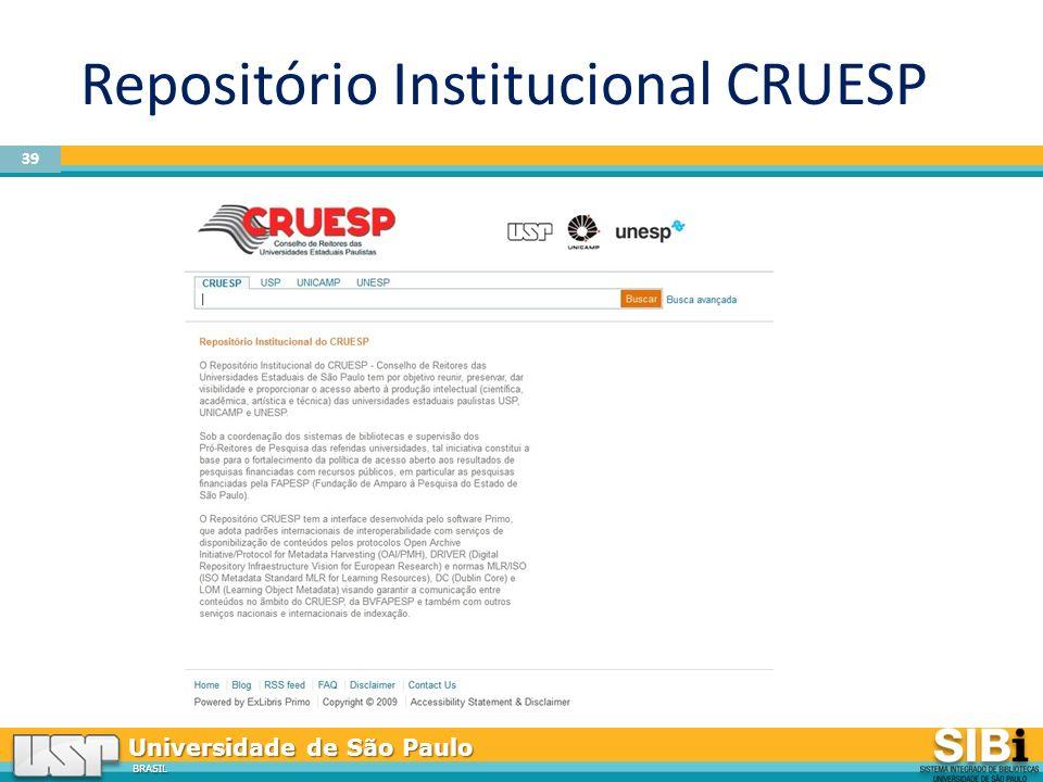 BRASIL Repositório Institucional CRUESP 39