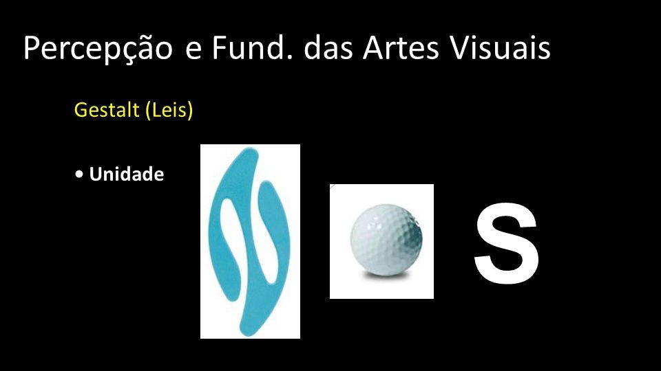 Percepção e Fund. das Artes Visuais Gestalt (Leis) Unidade