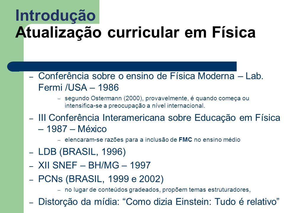 Introdução Atualização curricular em Física – Conferência sobre o ensino de Física Moderna – Lab.