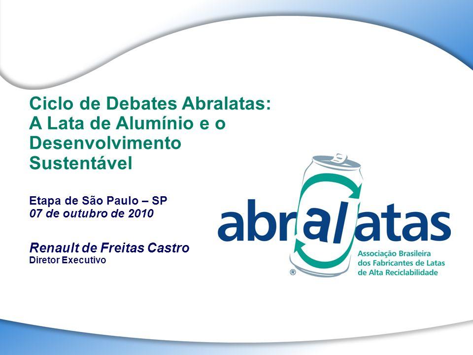 Ciclo de Debates Abralatas: A Lata de Alumínio e o Desenvolvimento Sustentável Etapa de São Paulo – SP 07 de outubro de 2010 Renault de Freitas Castro
