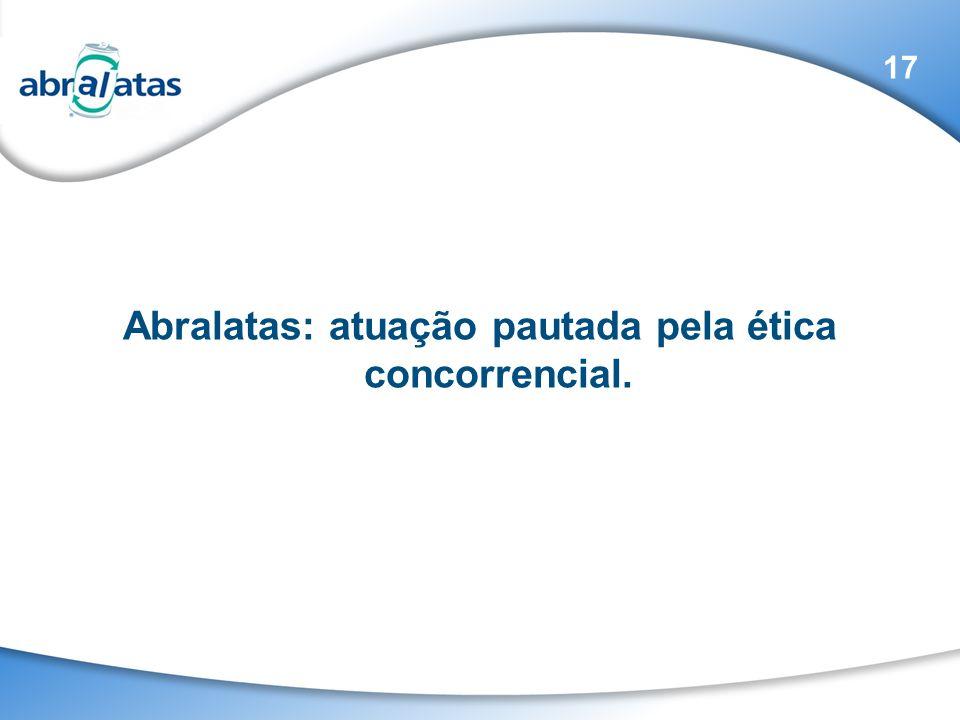 Abralatas: atuação pautada pela ética concorrencial. 17