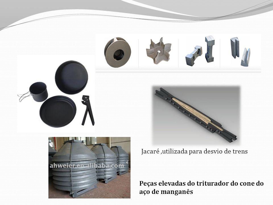 Peças elevadas do triturador do cone do aço de manganês Jacaré,utilizada para desvio de trens