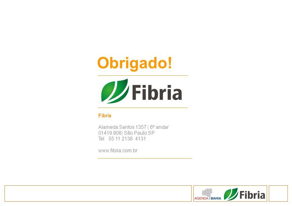 Fibria Alameda Santos 1357 | 6º andar 01419 908| São Paulo SP Tel 55 11 2138 4131 www.fibria.com.br Obrigado!