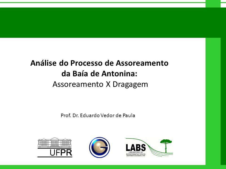Análise do Processo de Assoreamento da Baía de Antonina: Assoreamento X Dragagem Prof. Dr. Eduardo Vedor de Paula