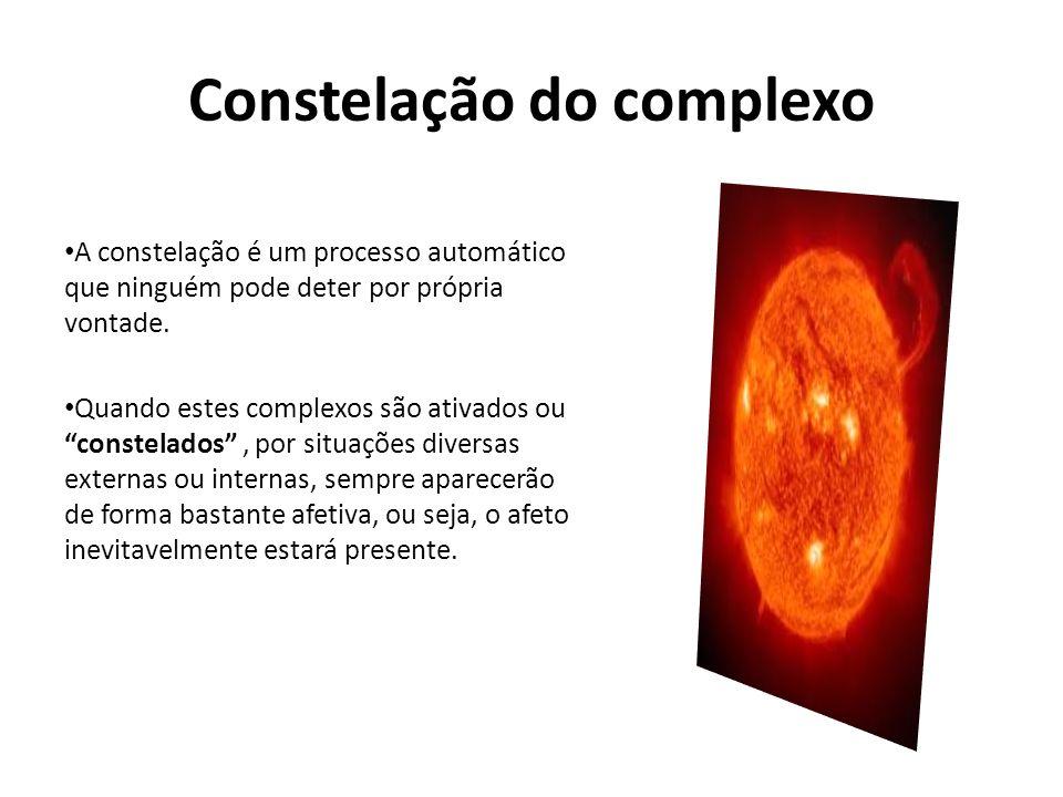 Constelação do complexo A constelação é um processo automático que ninguém pode deter por própria vontade. Quando estes complexos são ativados ouconst