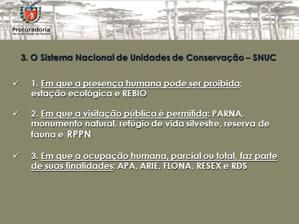 3.O Sistema Nacional de Unidades de Conservação – SNUC 1.
