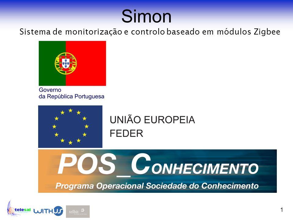 1 Simon Sistema de monitorização e controlo baseado em módulos Zigbee