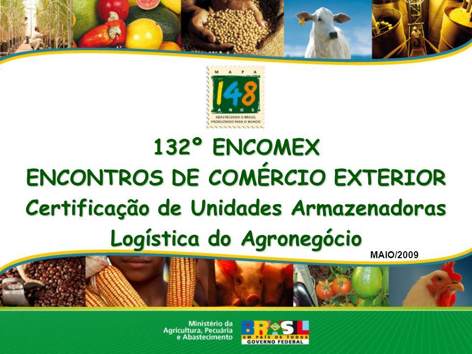 132º ENCOMEX ENCONTROS DE COMÉRCIO EXTERIOR Certificação de Unidades Armazenadoras Logística do Agronegócio MAIO/2009