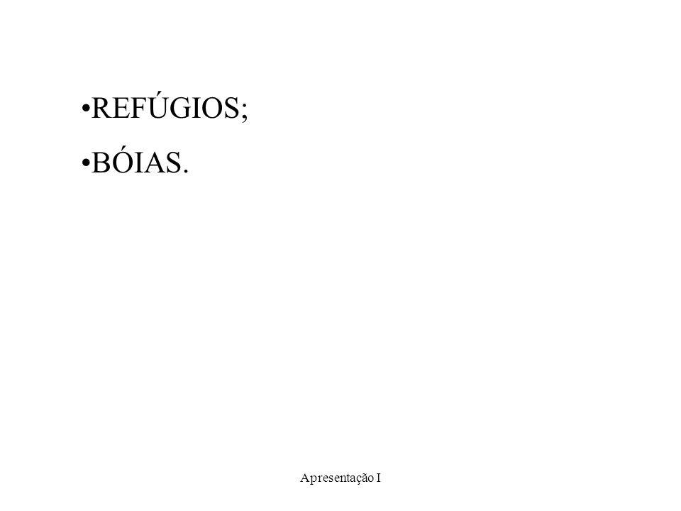 Apresentação I REFÚGIOS; BÓIAS.