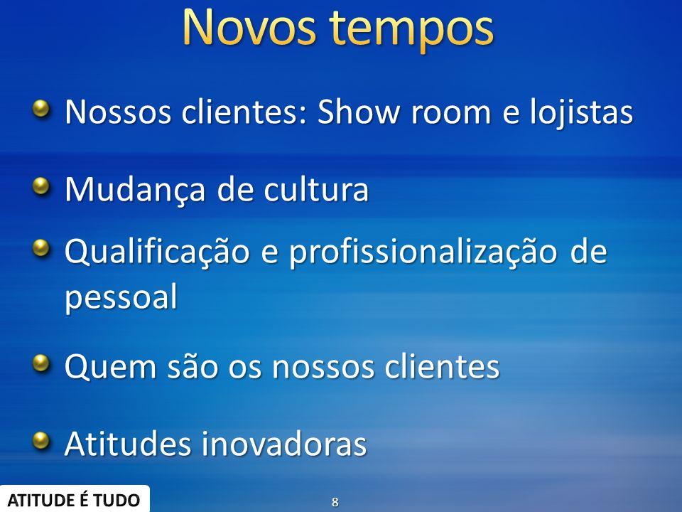 Nossos clientes: Show room e lojistas Mudança de cultura Qualificação e profissionalização de pessoal Quem são os nossos clientes Atitudes inovadoras