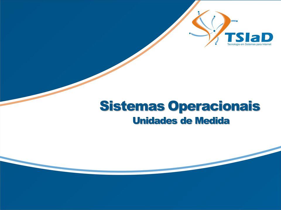 Título da Apresentação Sub-título (se necessário) Sistemas Operacionais Unidades de Medida