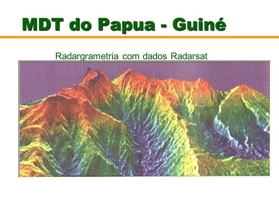 MDT do Papua - Guiné Radargrametria com dados Radarsat Visualização do MDT e hipsometria