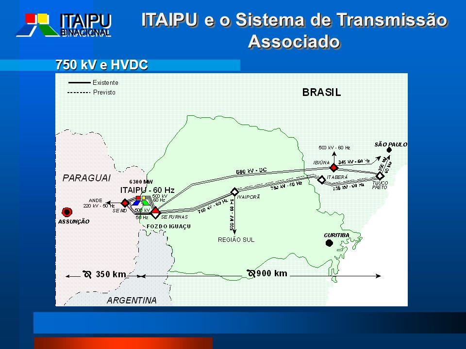 750 kV e HVDC ITAIPU e o Sistema de Transmissão Associado