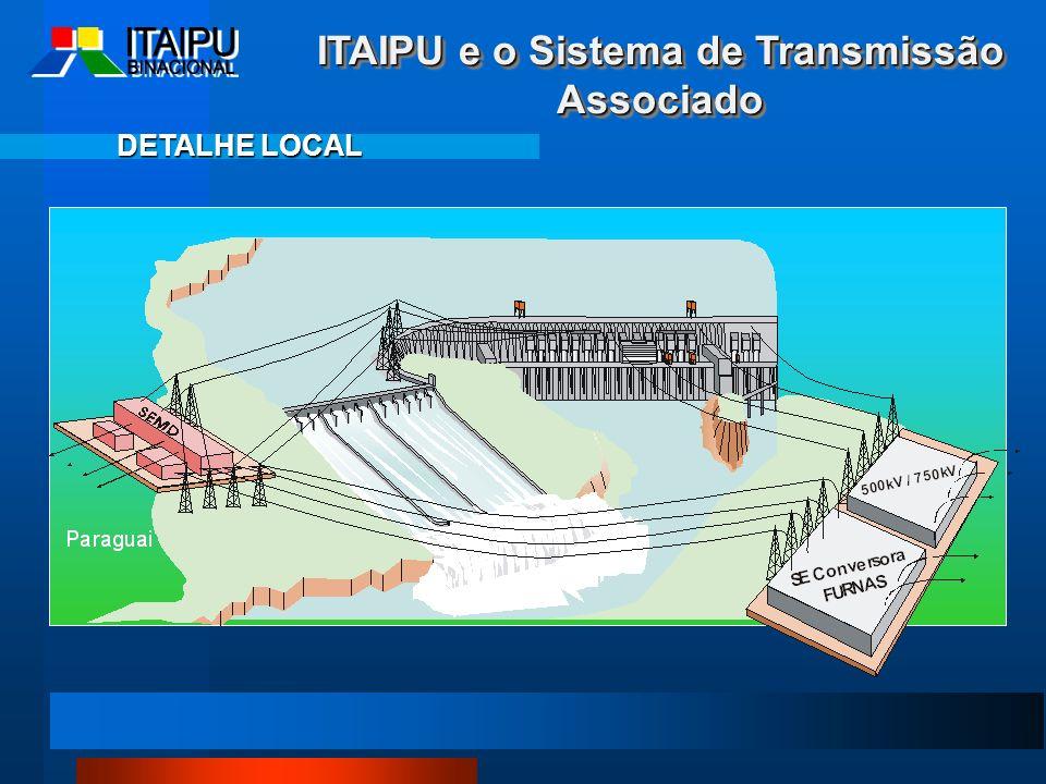 DETALHE LOCAL ITAIPU e o Sistema de Transmissão Associado