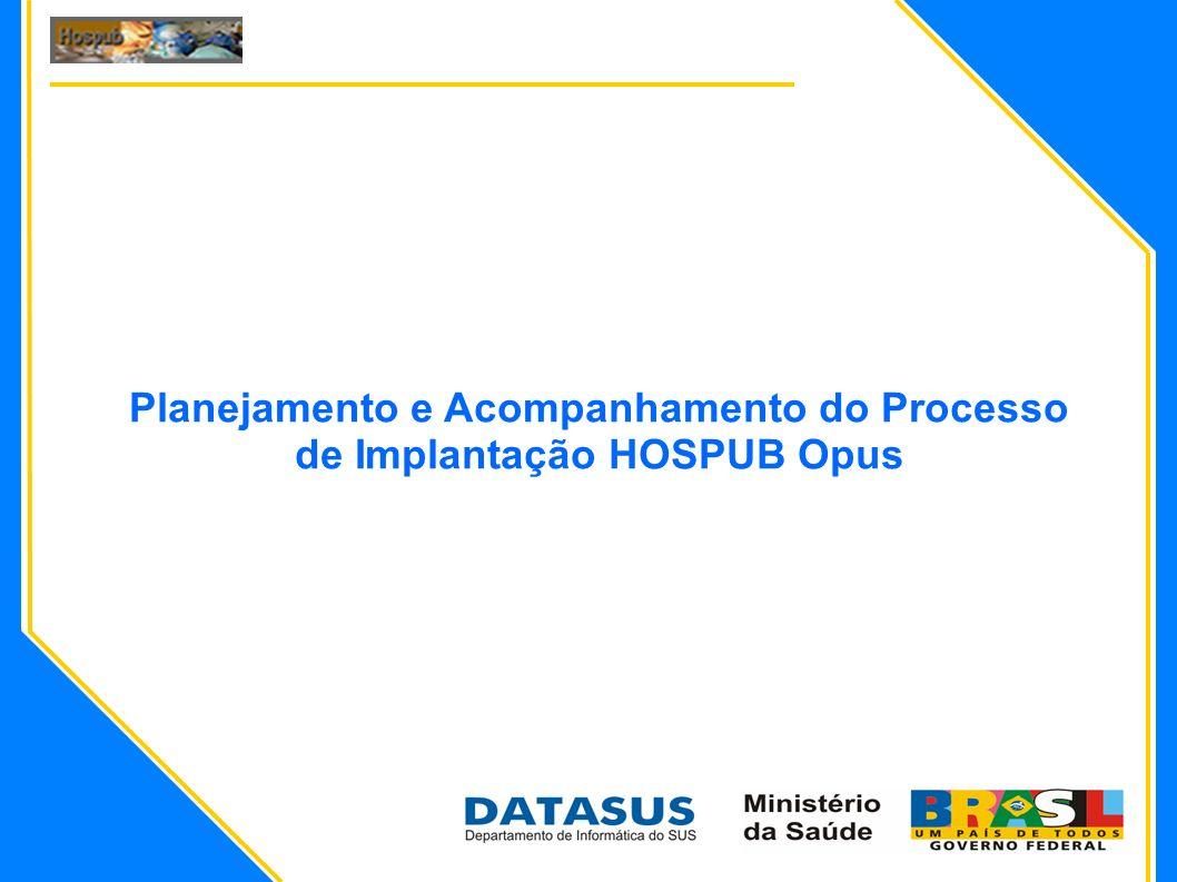Equipe de Suporte Operacional Versão 01 – 09/2009 2 Apresentar o processo e os documentos que serão utilizados para planejar e acompanhar a implantação do HOSPUB Opus nas Unidades de Saúde solicitantes.