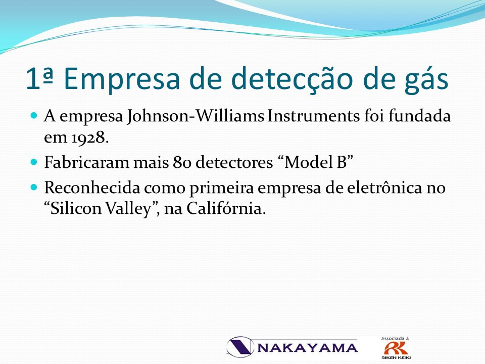 A empresa Johnson-Williams Instruments foi fundada em 1928.