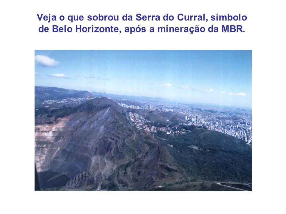 Veja o que sobrou da Serra do Curral, símbolo de Belo Horizonte, após a mineração da MBR.
