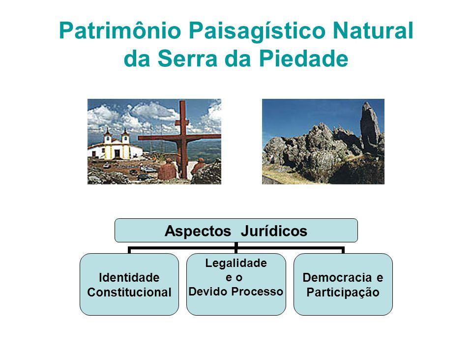 Patrimônio Paisagístico Natural da Serra da Piedade Aspectos Jurídicos Identidade Constitucional Legalidade e o Devido Processo Democracia e Participa