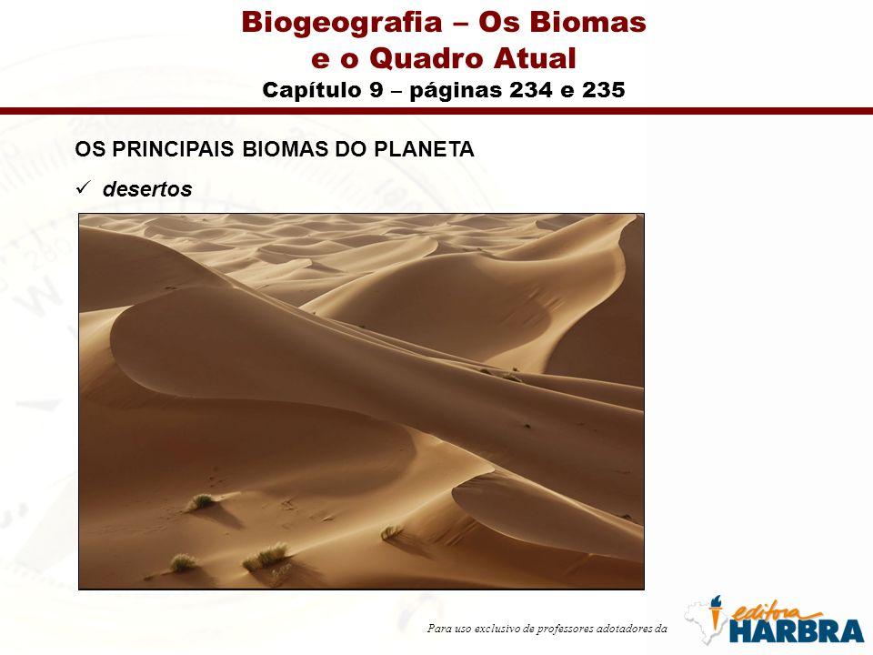 Para uso exclusivo de professores adotadores da Biogeografia – Os Biomas e o Quadro Atual Capítulo 9 – páginas 253 a 255 UNIDADES DE CONSERVAÇÃO Sistema nacional de unidades de conservação (SNUC) Unidades de proteção integral Unidades de uso sustentável
