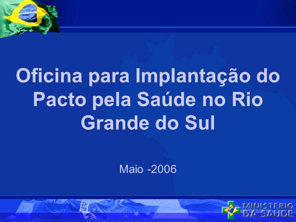 Oficina para Implantação do Pacto pela Saúde no Rio Grande do Sul Maio -2006