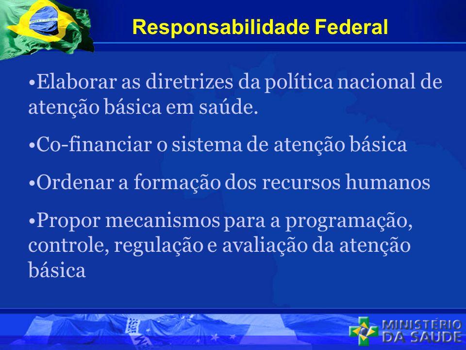 Elaborar as diretrizes da política nacional de atenção básica em saúde.
