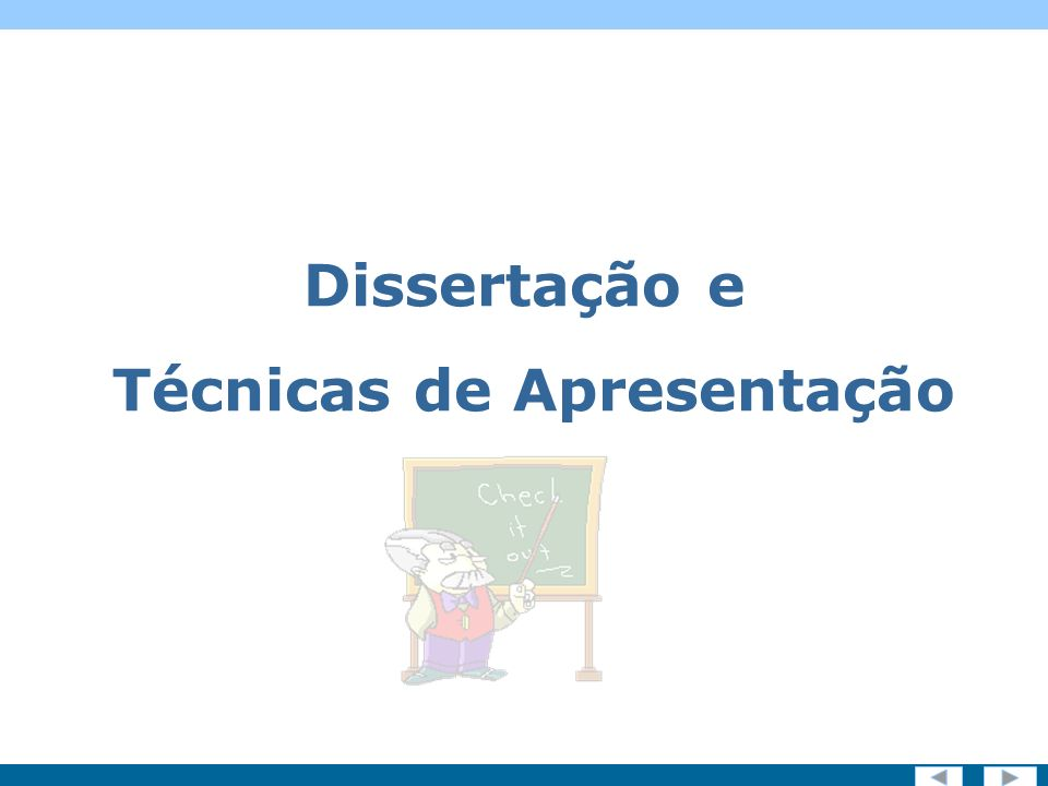 Screen 1 of 19 Dissertação e Técnicas de Apresentação