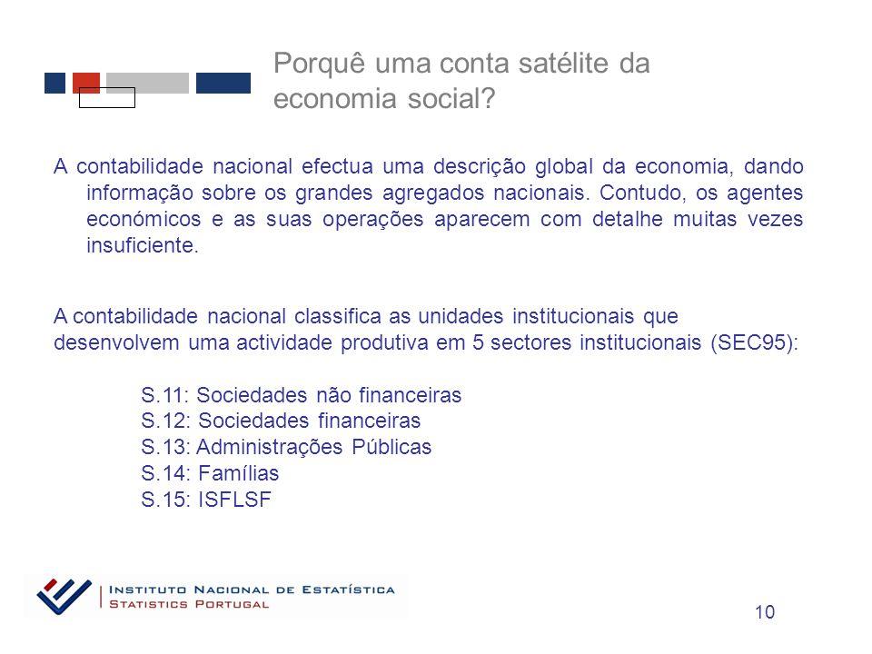 A contabilidade nacional efectua uma descrição global da economia, dando informação sobre os grandes agregados nacionais.
