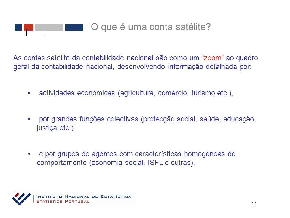 O que é uma conta satélite.