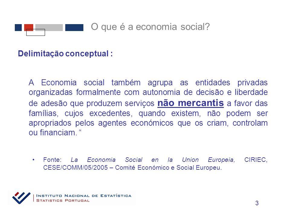 O que é a economia social.