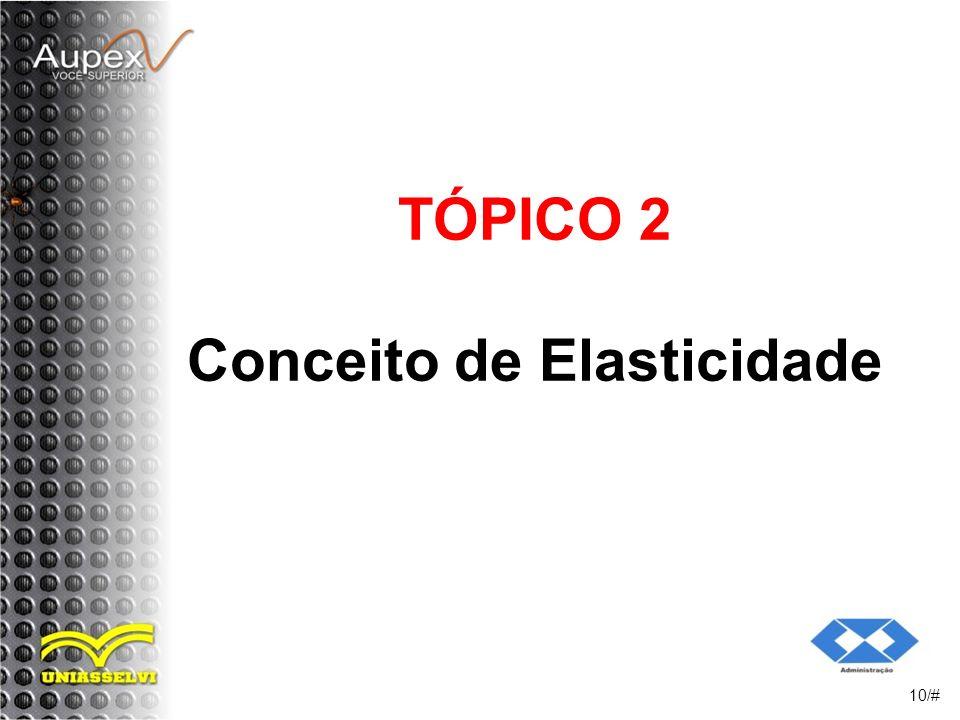 TÓPICO 2 Conceito de Elasticidade 10/#