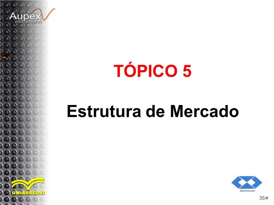 TÓPICO 5 Estrutura de Mercado 35/#