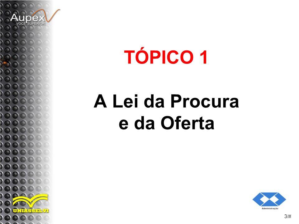 TÓPICO 1 A Lei da Procura e da Oferta 3/#
