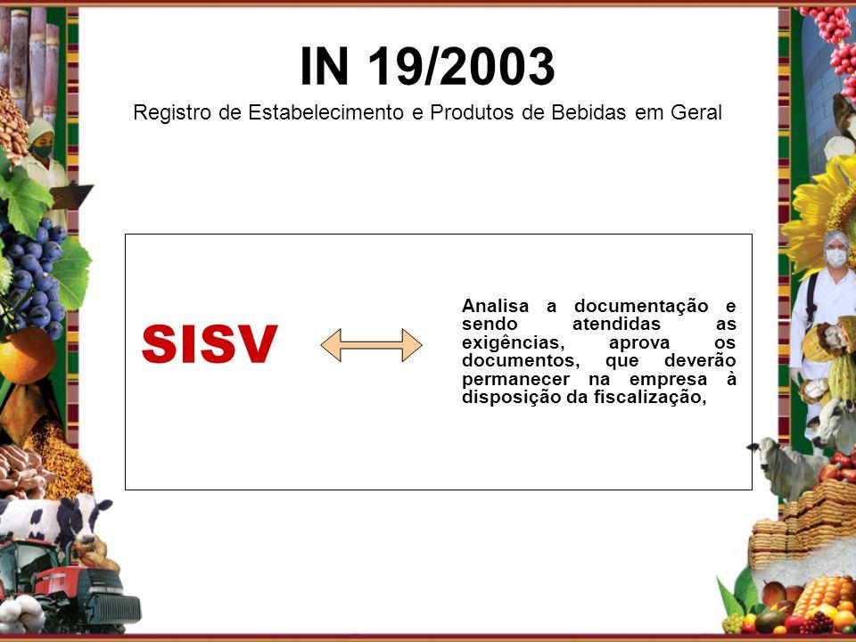 Analisa a documentação e sendo atendidas as exigências, aprova os documentos, que deverão permanecer na empresa à disposição da fiscalização, SISV IN