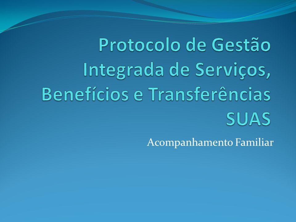 Breve Histórico: Na reunião ordinária da CIT realizada em março de 2008 foi abordada a necessidade de elaboração de um Protocolo de Gestão voltado à integração dos serviços, benefícios e transferências de renda.