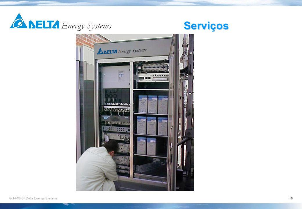 © 14-05-07 Delta Energy Systems16 Serviços