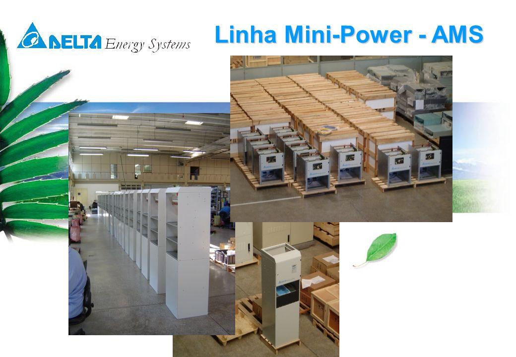 © 14-05-07 Delta Energy Systems3 Linha Mini-Power - AMS Mini Power com UR 2000W Mini Power com UR 1200W A linha Mini-Power foi especialmente desenvolvida pela Delta, para fornecer energia ininterrupta em –48 volts para as mais variadas aplicações.