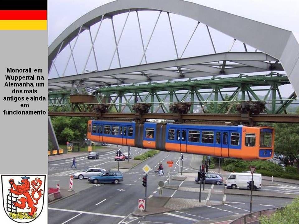 Monotrilho – Einschienerp - 1907, por Brennan e Scherl Monocarril. Um monocarril (português europeu) ou monotrilho (português brasileiro) ou monorail