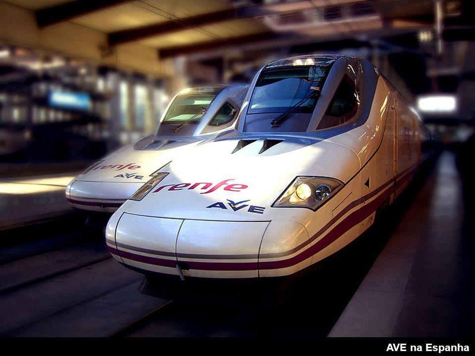 Comboios de alta velocidade: Acela Express (USA) AGV Airport Express Train Alfa Pendular (Portugal) AVE CRH Eurostar Fyra Inter City 125 Inter City Ex