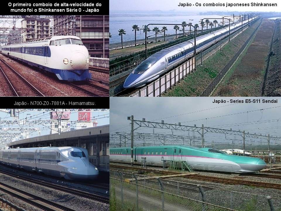 Diagrama da Rede Shinkansen - Japão Verdes: Concessão da JR East Amarelas: Concessão da JR Tokai Azuis: Concessão da JR West Vermelhas: Concessão da J