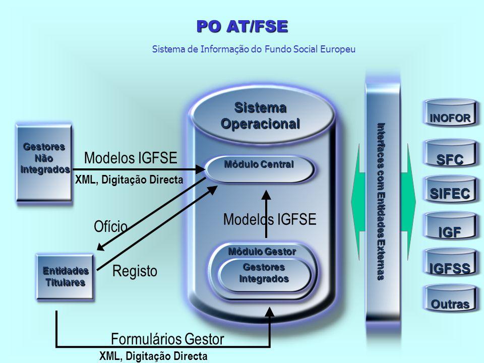 PO AT/FSE Disponibilização de informação a diferentes níveis: informação para gestão, acompanhamento, avaliação, controle e divulgação Medida II.3 - Sistema de Informação Tipologia de Projecto - Desenvolvimento do Sistema Integrado de Informação FSE (SII/FSE) Beneficiários: IGFSE; Organismos do MSST; Outras entidades, atendendo à natureza das acções Implementação e desenvolvimento de um Sistema Integrado de Informação de apoio à gestão, acompanhamento, avaliação e controlo específico para a vertente FSE do QCA III, com o objectivo de responder aos indicadores definidos pela CE, bem como aos trabalhos de avaliação do FSE