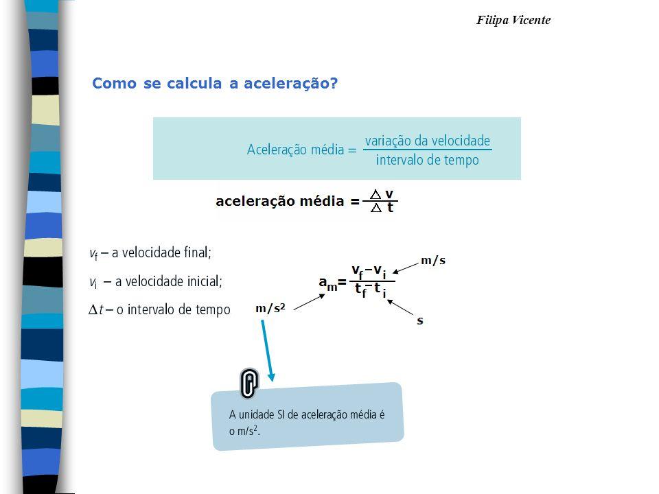 Filipa Vicente Como se calcula a aceleração?