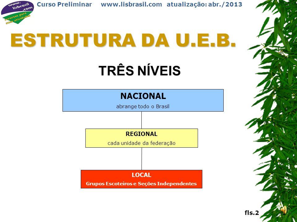 Curso Preliminar www.lisbrasil.com atualização: abr./2013 Curso Preliminar UD11 Estrutura da UEB
