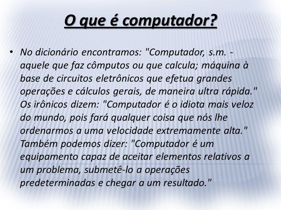 Primeiras Máquinas de Calcular A história do computador, ao contrário do que muitos podem imaginar, tem seu início há muito tempo atrás, desde quando o homem descobriu que somente com os dedos, ou com pedras e gravetos, não dava mais para fazer cálculos...