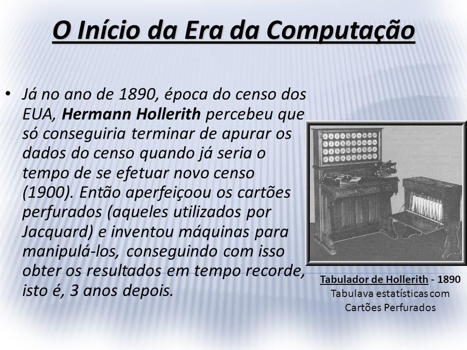 Em função dos resultados obtidos, Hollerith, em 1896, fundou uma companhia chamada TMC - Tabulation Machine Company, vindo esta a se associar, em 1914 com duas outras pequenas empresas, formando a Computing Tabulation Recording Company vindo a se tornar, em 1924, a tão conhecida IBM - Internacional Business Machine.