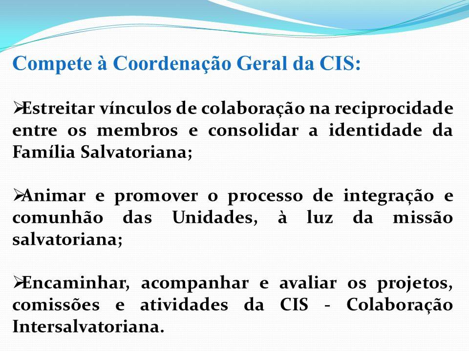 Compete à Coordenação Geral da CIS: Estreitar vínculos de colaboração na reciprocidade entre os membros e consolidar a identidade da Família Salvatori